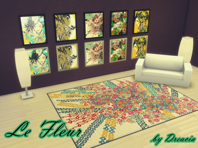 LeFleur v1 painting by Dreacia at My Fabulous Sims image 1466 Sims 4 Updates