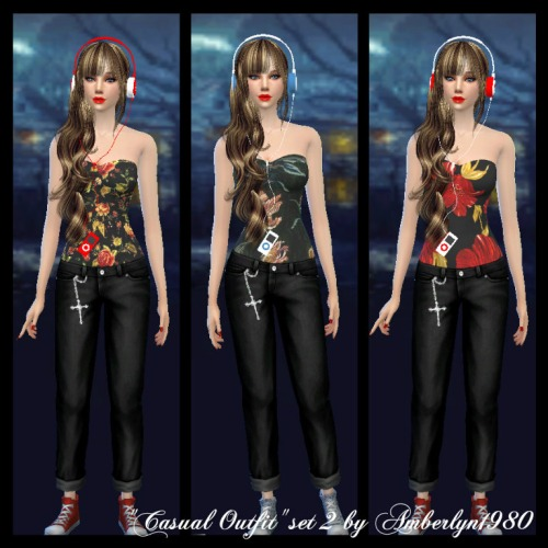 Sims 4 Casual outfit set 3 at Amberlyn Designs