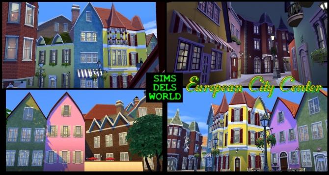 European City Center at SimsDelsWorld image 1488 Sims 4 Updates