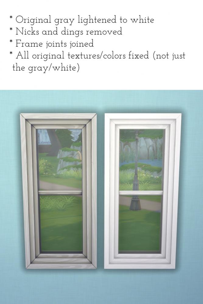 20 base game windows redone at Saudade Sims image 15102 Sims 4 Updates