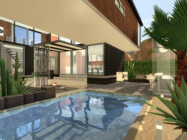Sims 4 Desert Cube house by chemy at TSR