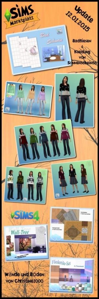Clothing plus wall & floor sets at Sims Marktplatz image 15111 Sims 4 Updates