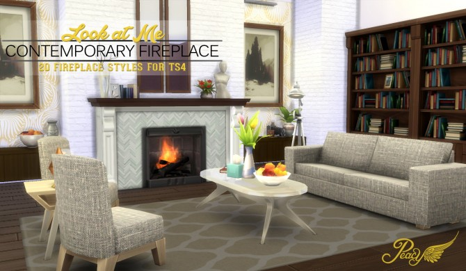 Sims 4 Look At Me! Fireplace at Simsational Designs