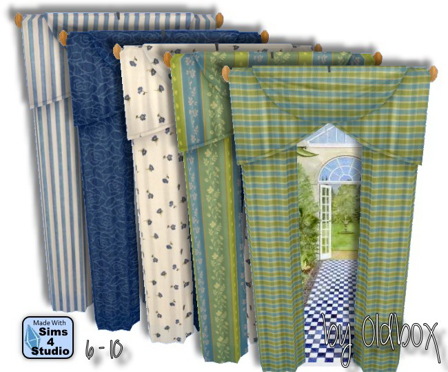 Curtains by Oldbox at All 4 Sims image 1549 Sims 4 Updates