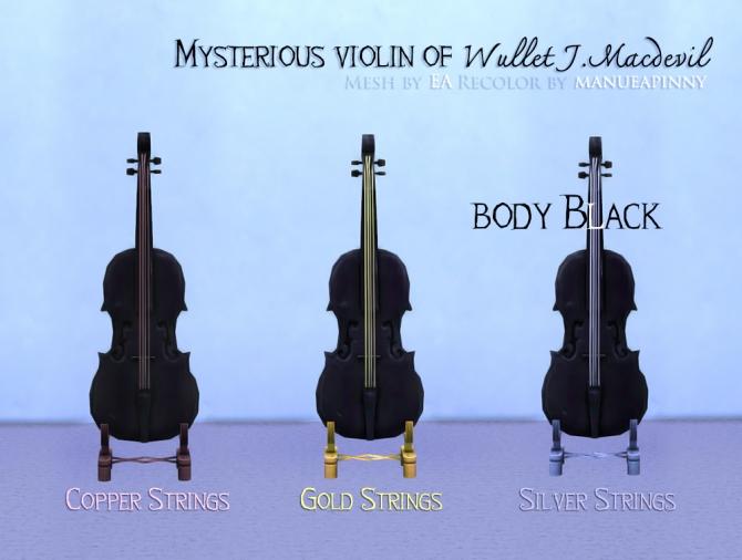 Sims 4 Black violin at manuea Pinny