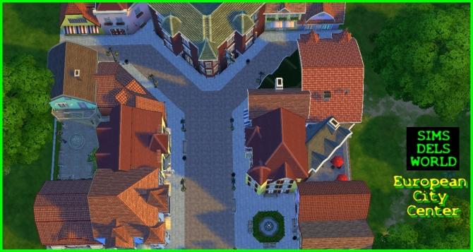 European City Center at SimsDelsWorld image 1559 Sims 4 Updates