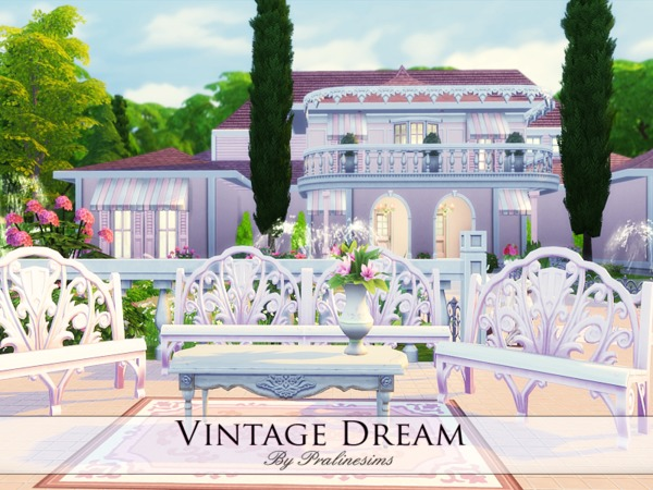 Sims 4 Vintage Dream house by Pralinesims at TSR