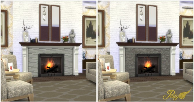 Look At Me! Fireplace at Simsational Designs » Sims 4 Updates