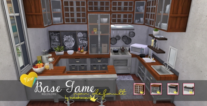Sims 4 Base game recolors at In a bad Romance
