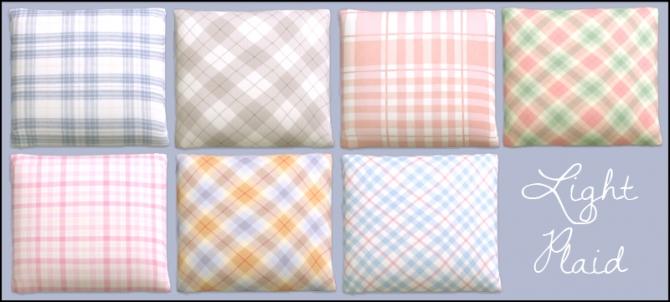 Sims 4 Plaid cushions at Martine's Simblr