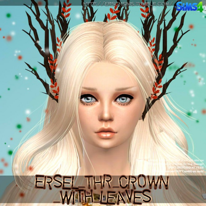 Sims 4 Tree crown with leaves by Ersel at ErSch Sims