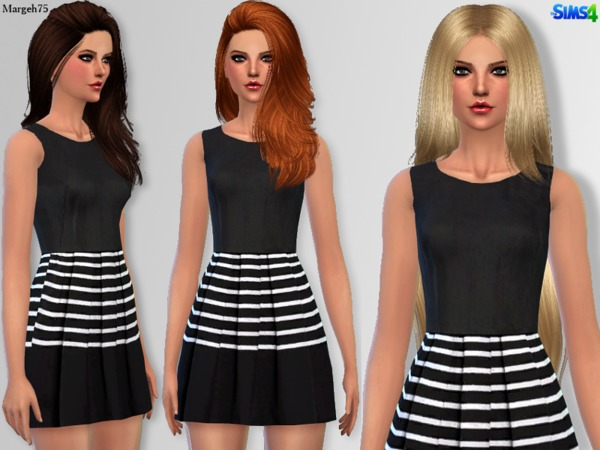 Splendid Stripes Dress by Margeh 75 at TSR image 16102 Sims 4 Updates