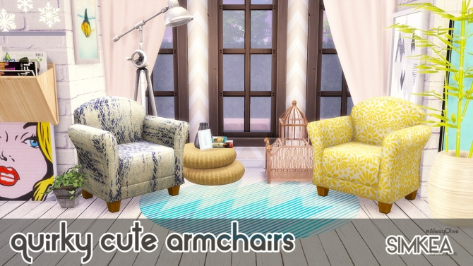 Sims 4 Quirky Cute Armchairs at Simkea