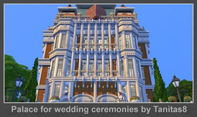 Sims 4 Palace for wedding ceremonies at Tanitas8 Sims