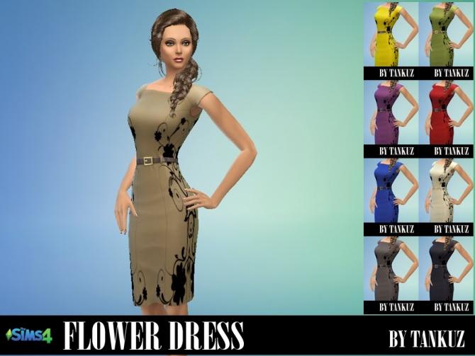 Flower Dress at Tankuz Sims4 image 16117 Sims 4 Updates