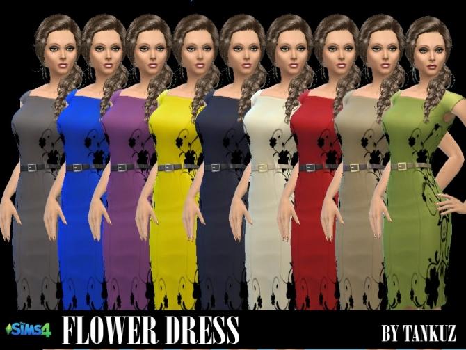 Sims 4 Flower Dress at Tankuz Sims4