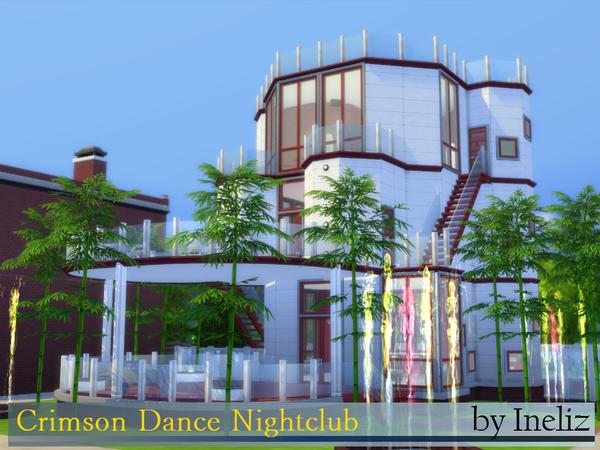 Sims 4 Crimson Dance Nightclub by Ineliz at TSR
