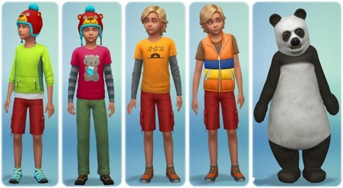 Sims 4 Outdoor Retreat Clothes and hairstyles at Annett's Sims 4 Welt