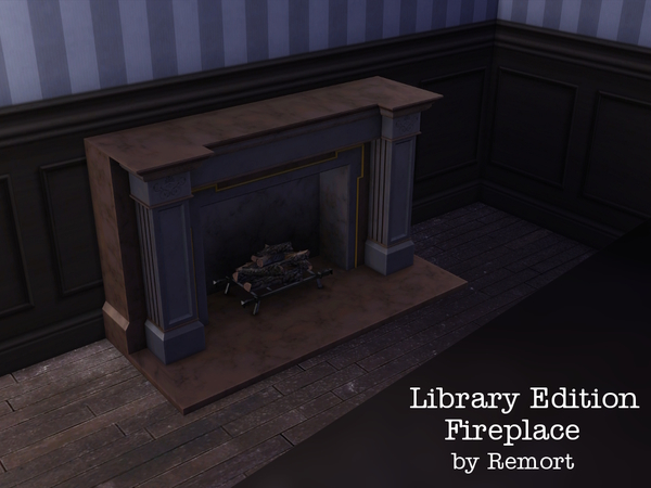 Library Edition Fireplace by Remort at TSR image 1675 Sims 4 Updates