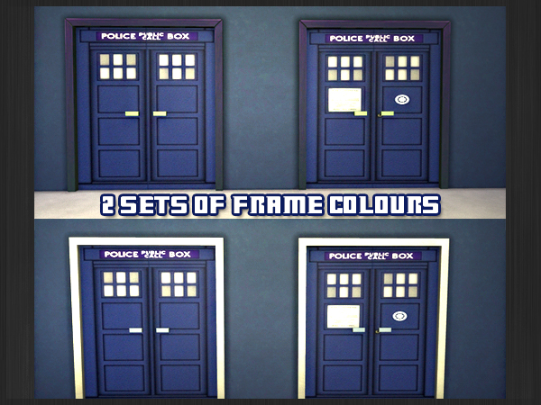 Sims 4 Doctor Who TARDIS doors at Akisima