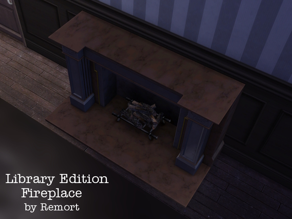 Library Edition Fireplace by Remort at TSR image 1685 Sims 4 Updates
