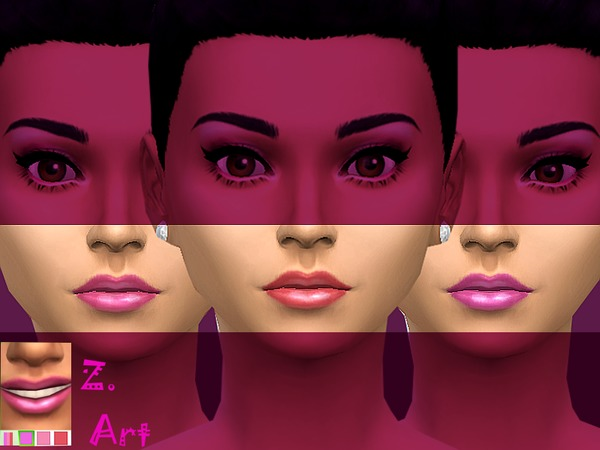 Pink Nuance lips by Zuckerschnute20 at TSR image 1705 Sims 4 Updates