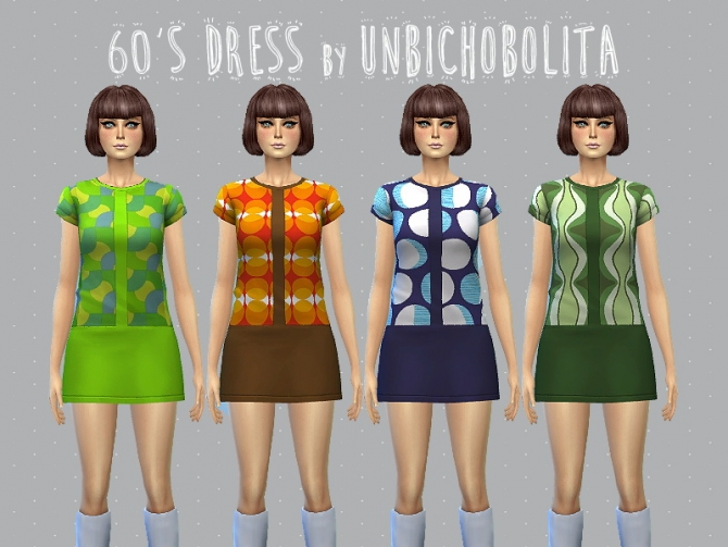 Sims 4 60s dress at Un bichobolita