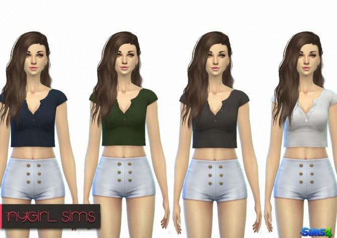 Sims 4 Collared Crop Top at NyGirl Sims
