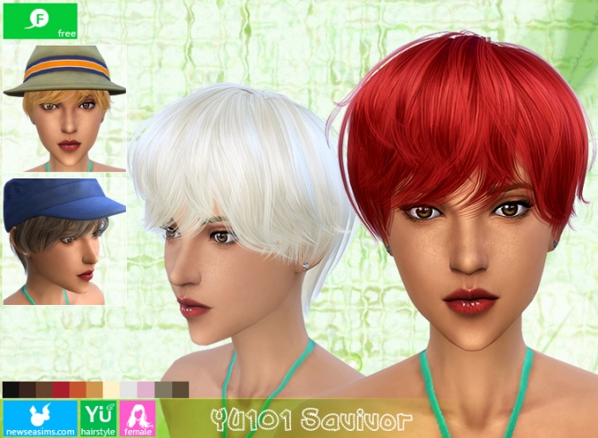 YU101 Savivor haircut (Free) at Newsea Sims 4 image 1728 Sims 4 Updates