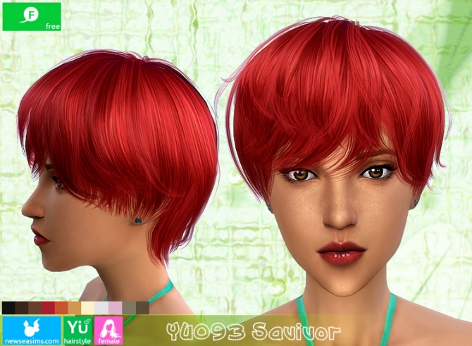 YU101 Savivor haircut (Free) at Newsea Sims 4 image 1736 Sims 4 Updates