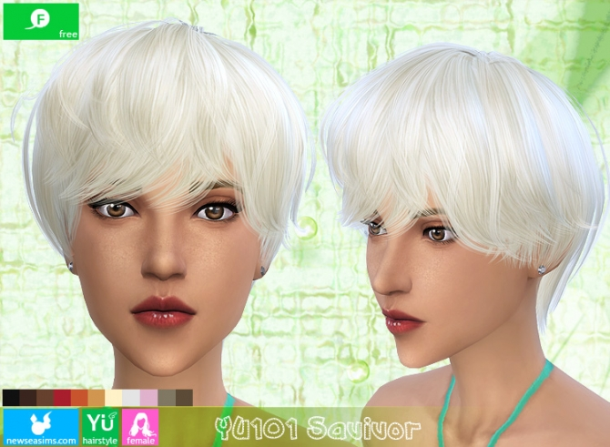YU101 Savivor haircut (Free) at Newsea Sims 4 image 1746 Sims 4 Updates