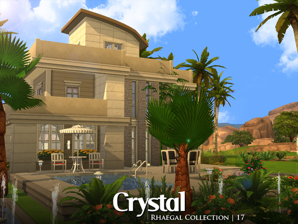 Sims 4 Crystal house by Rhaegal at TSR