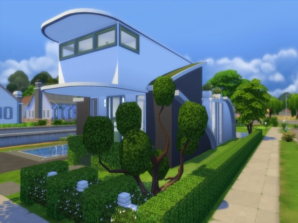 Futuristic Design house by Suzz86 at TSR image 1779 Sims 4 Updates