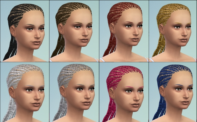 S2 female dreadlocks conversion by necrodog at Mod The Sims image 17811 Sims 4 Updates