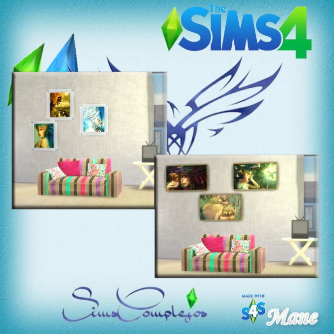 Sims 4 Carnival paintings collection at El Taller de Mane