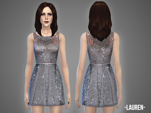 Lauren dress by April at TSR image 1784 Sims 4 Updates