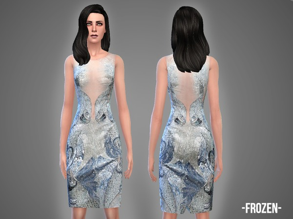 Sims 4 Frozen dress by April at TSR