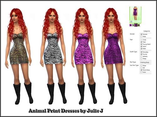 Animal Print Dresses At Julie J 187 Sims 4 Updates