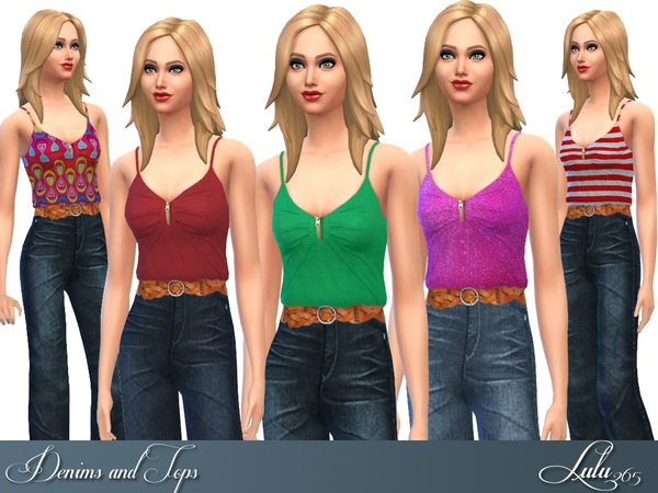 Sims 4 Denims and Tops by Lulu265 at TSR