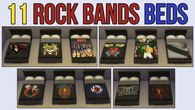 ... Bands Beds by ironleo78 at Mod The Sims image 18118 Sims 4 Updates