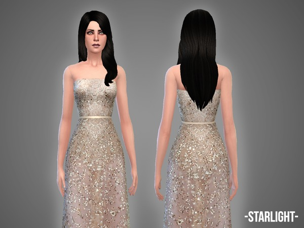 Sims 4 Starlight gown by April at TSR
