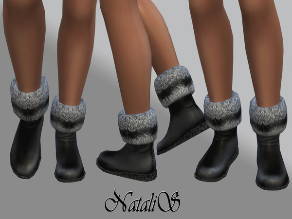 Flat low boots with fur by NataliS at TSR image 1816 Sims 4 Updates