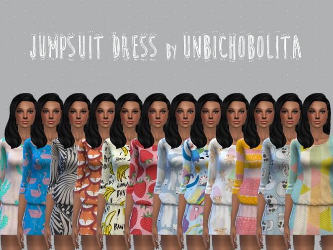 Sims 4 Jumpsuit dress at Un bichobolita
