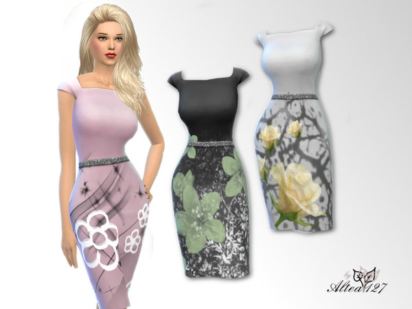 Sims 4 Roma dress by altea127 at TSR