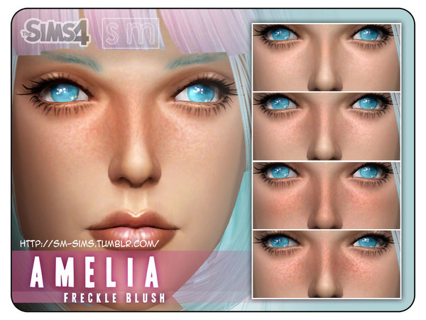 Sims 4 Freckled Blush by Screaming Mustard at TSR