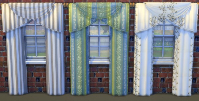 Curtains by Oldbox at All 4 Sims image 1829 Sims 4 Updates