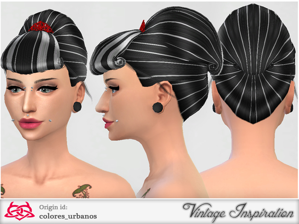 Retro Hairstyle 04 by Colores Urbanos at TSR image 1837 Sims 4 Updates