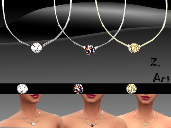 Sims 4 Diamond Ball pendant by Zuckerschnute20 at TSR
