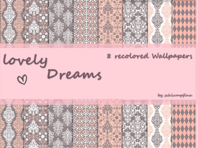 Loveley Dreams Wallpaper by schlumpfina at My Fabulous Sims image 1902 670x502 Sims 4 Updates