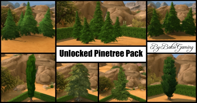Unlocked Pinetree Pack (7 new trees) by Bakie at Mod The Sims image 19110 Sims 4 Updates